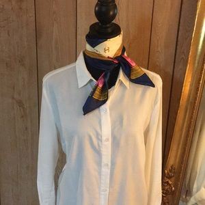 Tops - Simple white button down shirt -longer length
